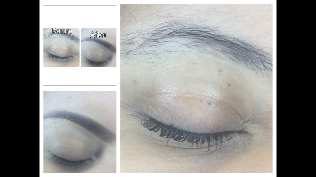 Eyebrow Tutorial 2016 How To Mask Your Eyebrows When Growing Them