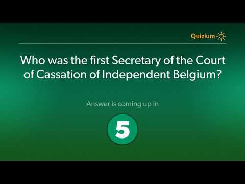 Who was the first Secretary of the Court of Cassation of Ind
