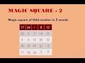 Magic Square Trick - 2  | magic square of 5x5 | magic square  3x3 (Hindi/Urdu)