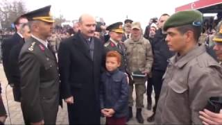Üçüz Asker Babasına Bakan Soylu Sürprizi