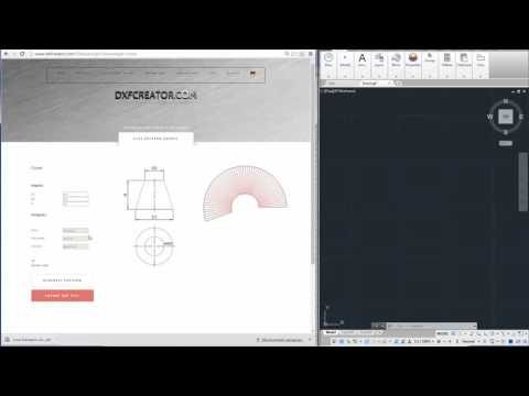 DXF Creator Cone development, online, no CAD required!