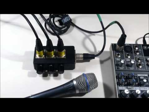 add extra mic inputs in seconds with the Mini XLR Mixer