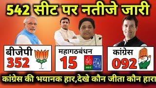 अंतिम फाइनल Exit Poll 2019 Lok Sabha Election : लोकसभा की 542 सीटो पर देश का सबसे बड़ा सटीक सर्वे