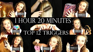 ASMR 💕 BEST Top 12 Triggers For Ultra Tingles ⚡ Over 1 Hour Of Spine Tingling Sounds⚡