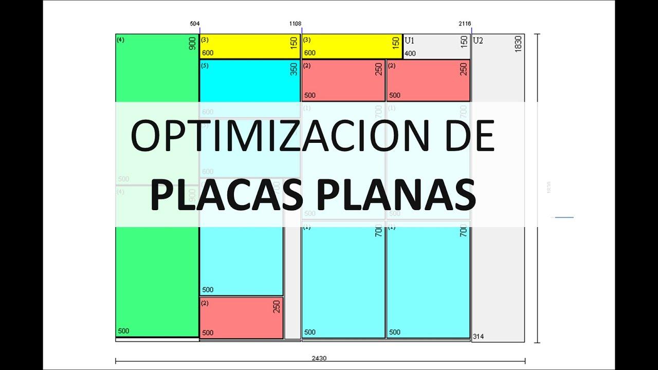 Optimizador de cortes de tableros de placas planas youtube for Programa para hacer muebles de melamina gratis
