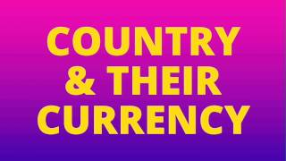 Country and their currency all government job important countries and their currency questions