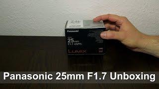 Panasonic Lumix G 25mm F1.7 Unboxing (4K UHD English)