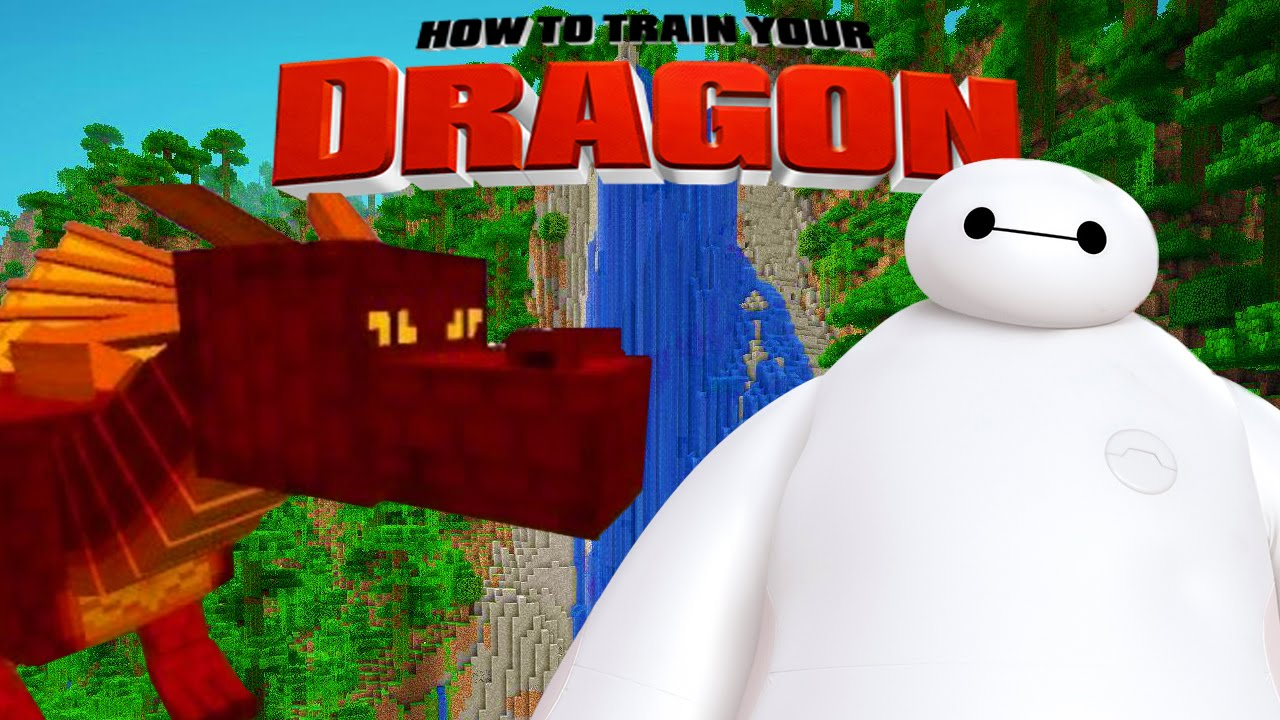 Minecraft HOW TO TRAIN YOUR DRAGON Big Hero 6 7 YouTube