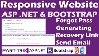 responsive website asp net bootstrap part 13 generating forgot password link with guid send email