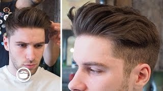 Modern Quiff With Disconnected Fade (Actual Haircut Footage)