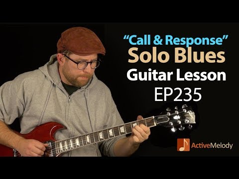 Solo Blues Guitar Lesson on Electric Using The
