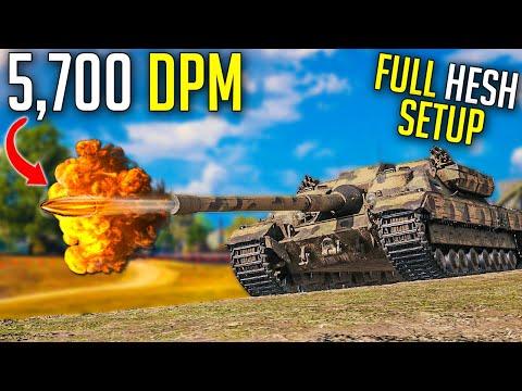 5,700-dpm-setup-with-full-hesh!-⛔-|-world-of-tanks-fv217-badger-gameplay