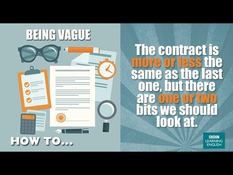 How to... be vague
