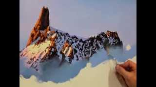 How to paint a mountain with the spatula.
