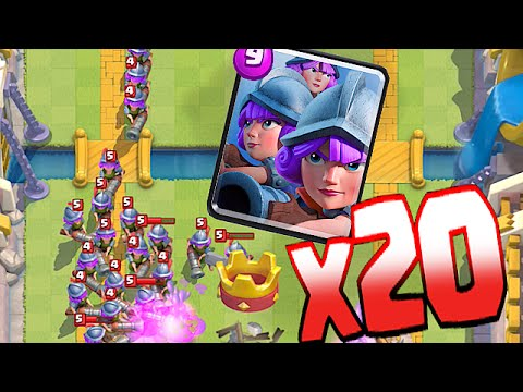 Clash Royale - INSANE!! X20 MASS MUSKETEERS!! (WORLD RECORD!?!)