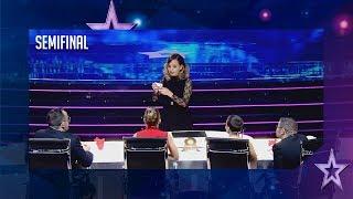 el pase de oro vuelve a venezuela dania cautiva con su magia semifinal 2 got talent españa 2018