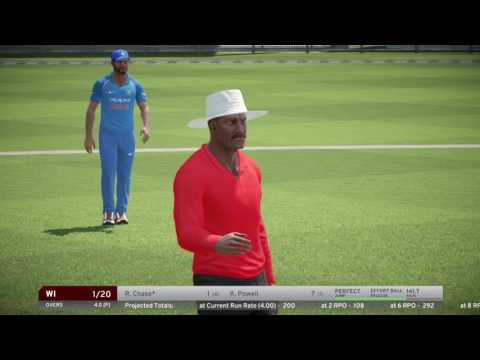 INDIA VS WEST INDIES 5TH ONE DAY INTERNATIONAL 2017 IN DON BRADMAN CRICKET 17 PS4.