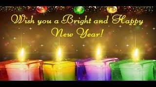 Happy New Year 2018 Wishes Greeting Card For Whatsapp Wallpaper animation song countdown