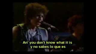 BOB DYLAN - BALLAD Of A THIN MAN (LIVE) - ESPAÑOL ENGLISH