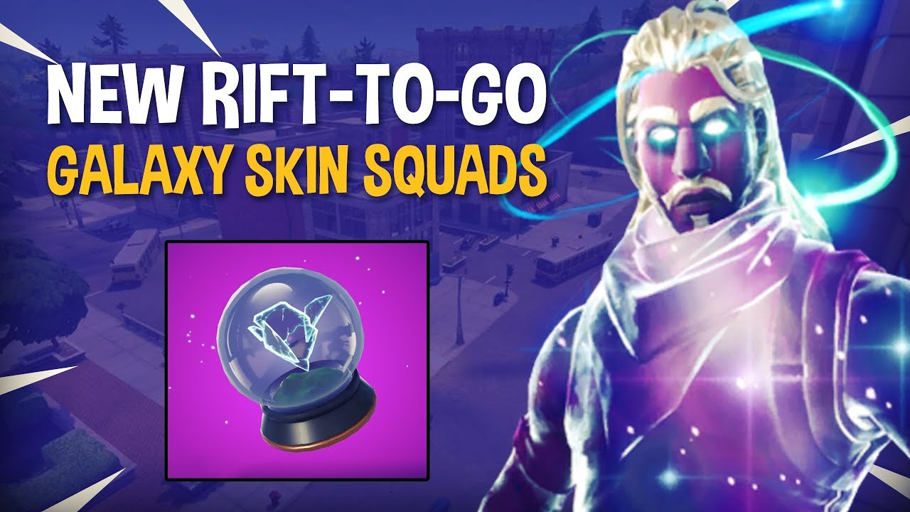 NEW Rift-To-Go | GALAXY SKIN SQUADS - Fortnite Battle Royale Gameplay - Ninja