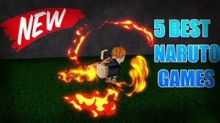 TOP 5 BEST UPCOMING NARUTO GAMES ON ROBLOX Juste Teo