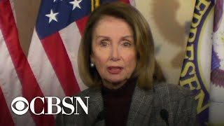 "Nancy Pelosi ""glad"" Trump walked away from summit with no deal"