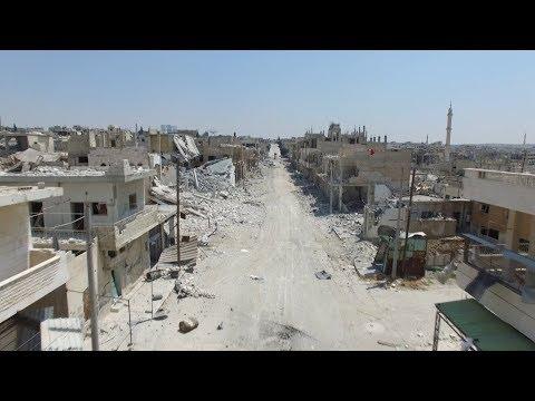 Армия Асада и ВКС России превратили сирийский Хан-Шейхун в руины