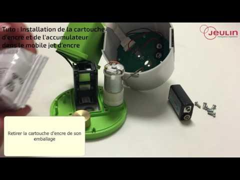 Tutoriel de montage de l'accumulateur et de la cartouche d'encre pour mobile jet d'encre - Jeulin
