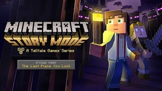 "Minecraft: Story Mode Episode 3 ""The Last Place You Look""  All Cutscenes (Game Movie) 1080p HD"