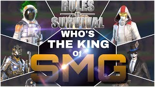 Who's the KING of SMG | Rules Of Survival | Youtubers