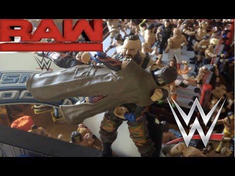 WWE action figure set up - RAW