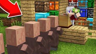 Я ОТКРЫЛ МАГАЗИН СУНДУКОВ В ДЕРЕВНЕ ЖИТЕЛЕЙ В МАЙНКРАФТ 100% Троллинг Ловушка Minecraft