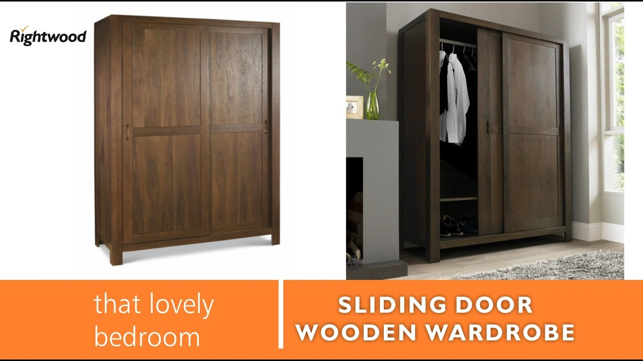 Wooden Wardrobe Almirah With Slider Doors New Design 2017