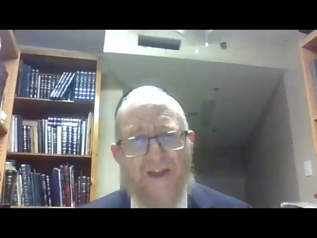 Rabbi Luban Nightly Iyun Shiur 10/21/2020