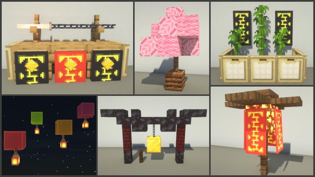 Minecraft 30 Japanese Decoration Ideas Youtube