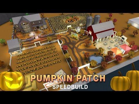 Roblox Bloxburg   Halloween Pumpkin Patch Speedbuild