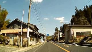 国道153号(旧道) 足助市街 足助大橋西から富岡町西洞