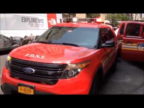 SUPER EXCLUSIVE 1ST WALK AROUND VIDEO OF BRAND NEW FDNY EMS 1 DIVISION SUPERVISOR AT 2 ALARM FIRE.