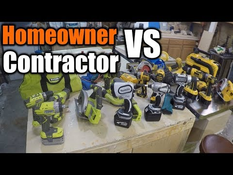 Homeowner Grade VS Contractor Grade Tools | What Should You Buy | THE HANDYMAN |
