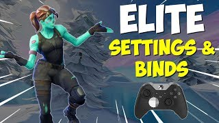 BEST Scuf/Elite Controller SETTINGS & BINDS | Fortnite Battle Royale