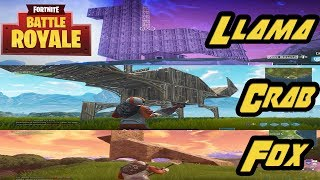 FOX, LLAMA AND CRAB LOCATIONS IN FORTNITE!!!! BATTLE PASS CHALLENGES #USKRC