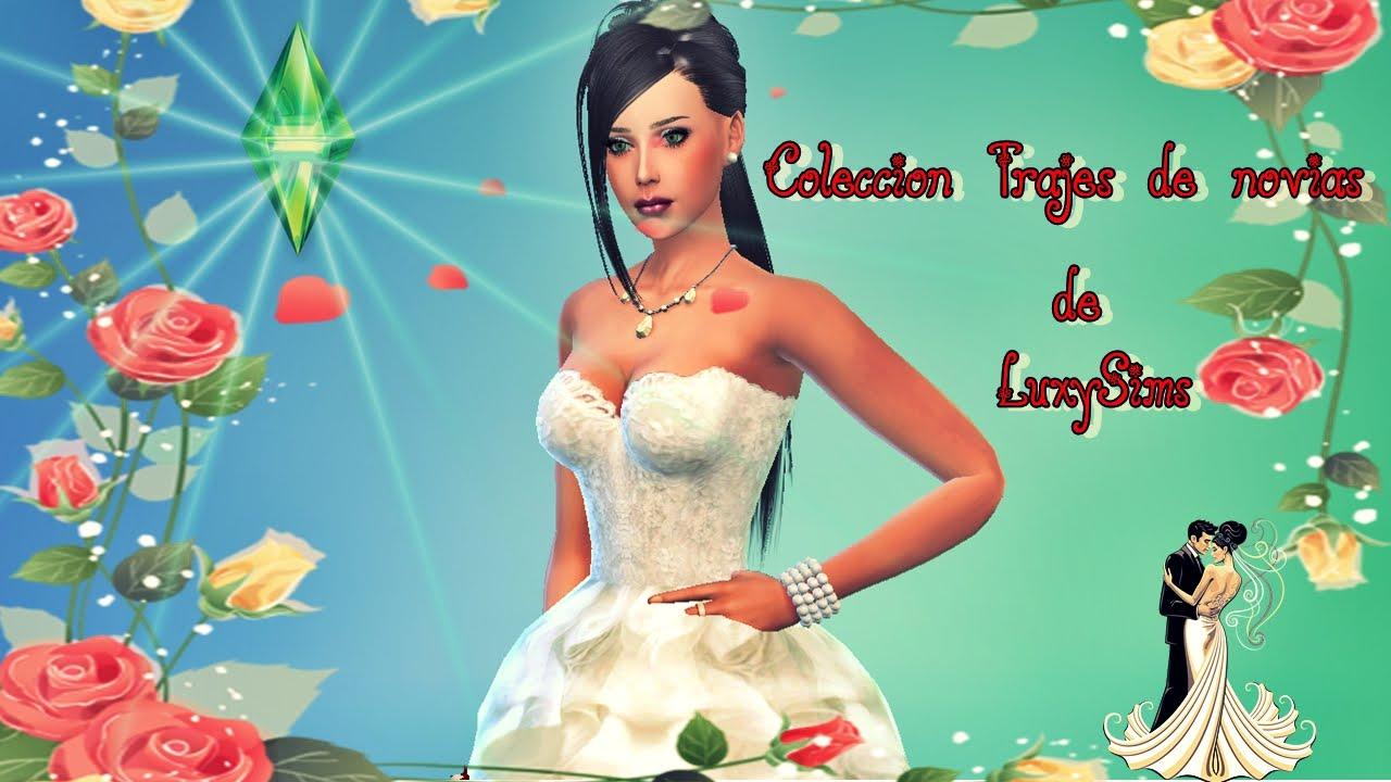 Vestidos de novia de LuxySims Sims 4 - YouTube