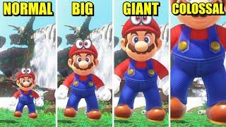 Super Mario Odyssey - Mini vs Small vs Big vs Giant vs Colossal Mario