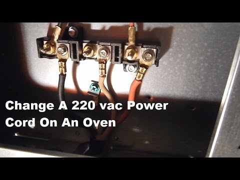Changing A 220 vac Power Plug On A Oven - YouTube