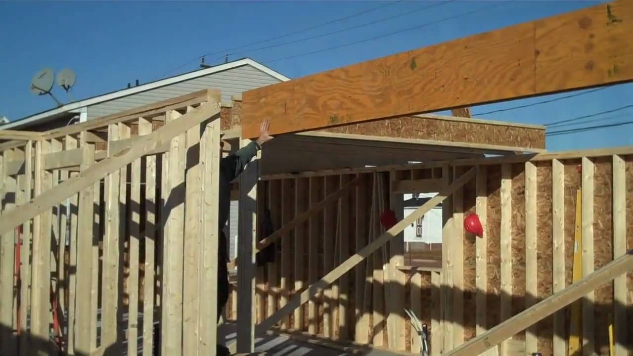 how to install a support beam