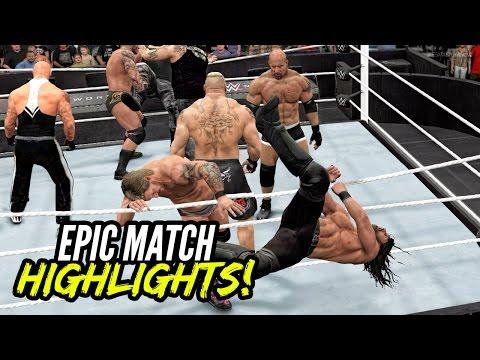 WWE 2K17 Royal Rumble 2017   Epic Match Highlights!