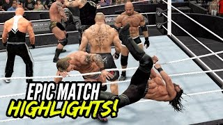 WWE 2K17 Royal Rumble 2017 | Epic Match Highlights!