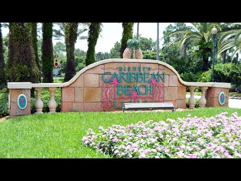 Disney's Caribbean Beach Resort Tour & Overview 2015 w/ Pools, Old Port Royale, Walt Disney World