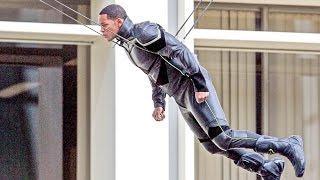 Will Smith Flying Stunt! Hancock BTS