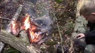 Походная кухня - варим грибной суп из подосиновиков на костре в лесу